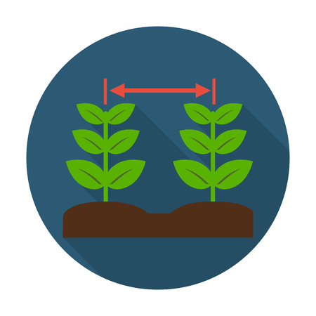 seedlings flat icon with long shadow for web design Illustration