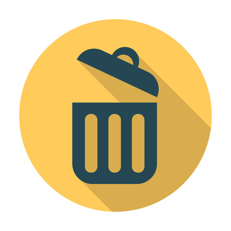urn: rubbish flat icon with long shadow for web design Illustration
