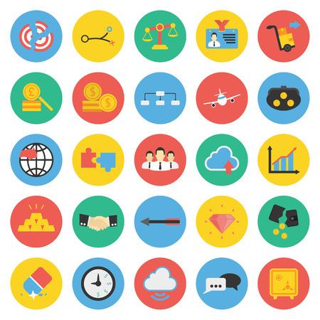 identification: Business, Finance 25 flat icons set for web design Illustration