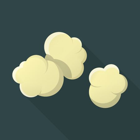 popcorn: popcorn flat icon with long shadow for web design