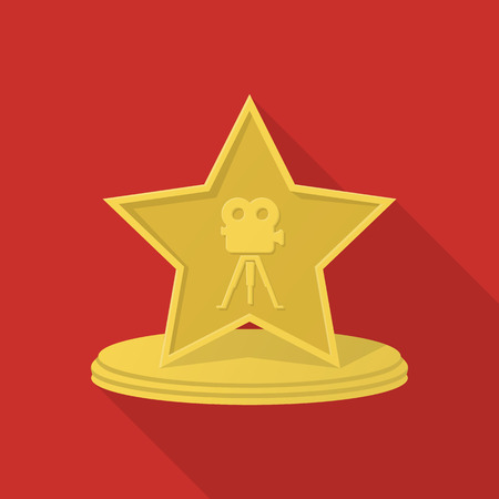 nomination: award flat icon with long shadow for web design
