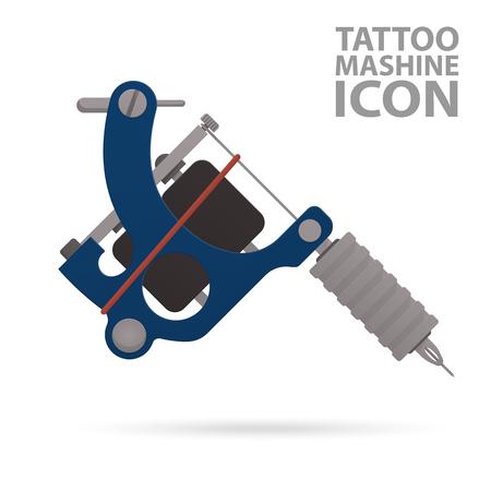 Tattoo machine Flat icon tattoo for web design.