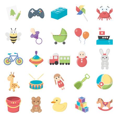 Spielzeug 25 Cartoon-Icons für Web-Design Standard-Bild - 54750738