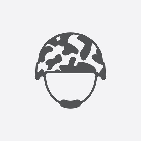 Helmet icon of vector illustration for web and mobile design