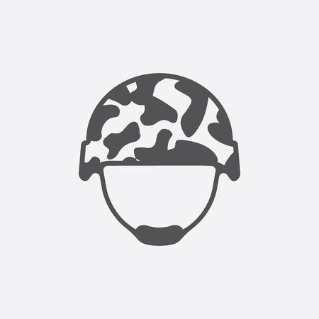 Helm icoon van vector illustratie voor het web en mobiele apparatuur Stock Illustratie