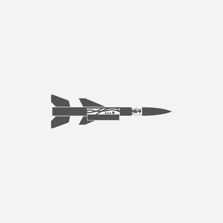 nuke: Missile icon of vector illustration for web and mobile design Illustration