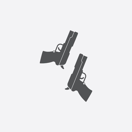 pistols: Pistols icon of vector illustration for web and mobile design