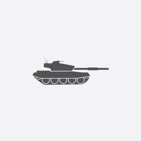 cold war: Tank icon of vector illustration for web and mobile design