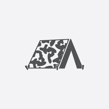 barracks: Tent icon of vector illustration for web and mobile design