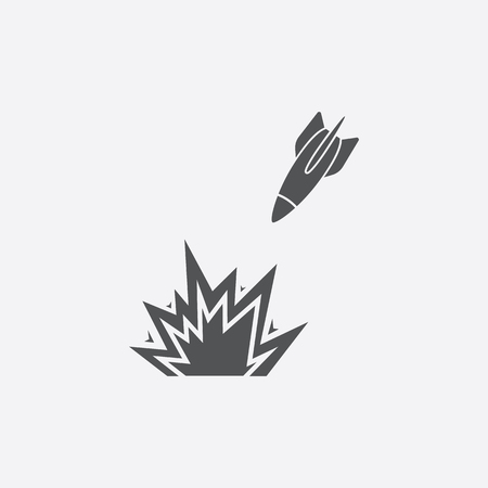 nuke: Airstrike icon of vector illustration for web and mobile design