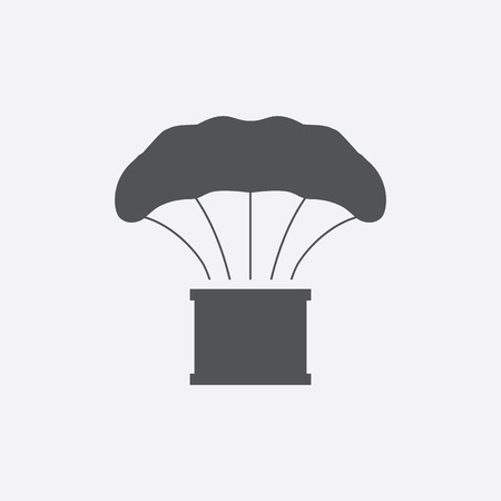bailout: Airdrop cargo icon of vector illustration for web and mobile design