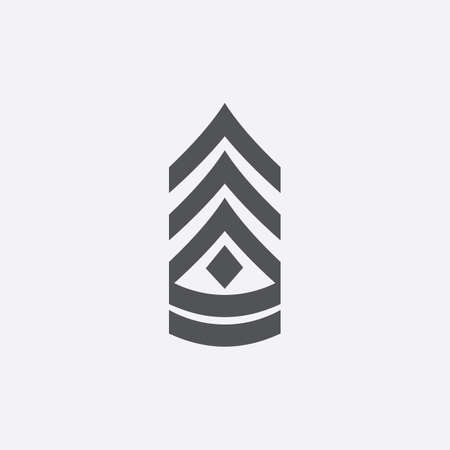 sergeant: First sergeant icon of vector illustration for web and mobile design Illustration