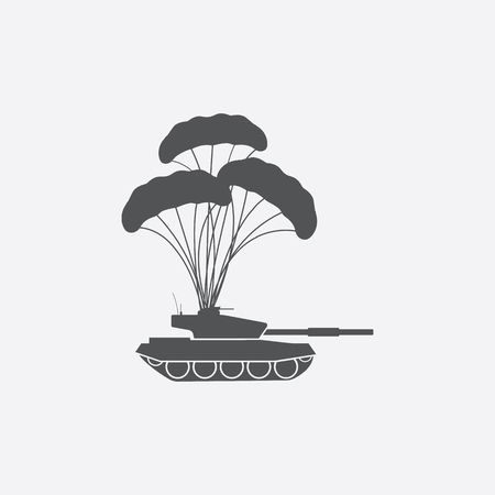 parachuter: Airdrop icon of vector illustration for web and mobile design Illustration