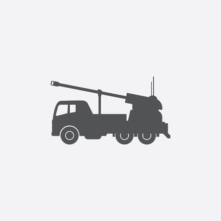 artillery: Artillery truck icon of vector illustration for web and mobile design