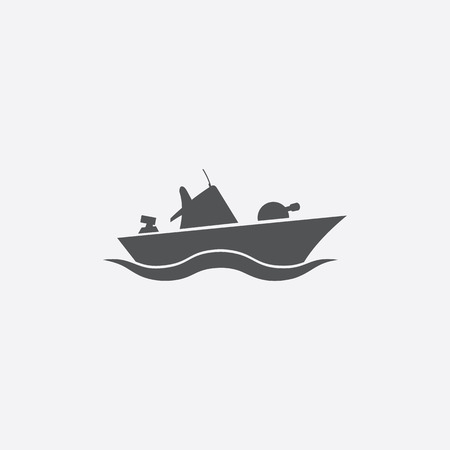 warship: Warship icon of vector illustration for web and mobile design