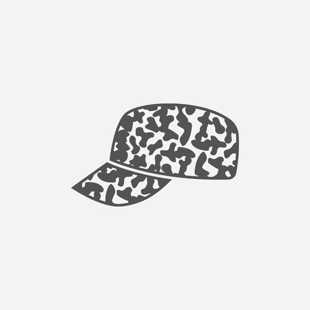 hat with visor: Cap icon of vector illustration for web and mobile design