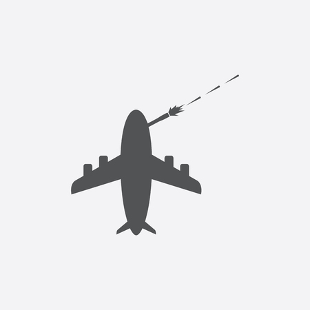 military aircraft: Transport aircraft icon of vector illustration for web and mobile design Illustration