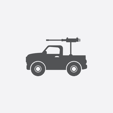 armoured: Armoured vehicle icon of vector illustration for web and mobile design Illustration
