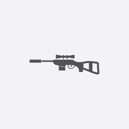 telescopic: Sniper Rifle icon of vector illustration for web and mobile design