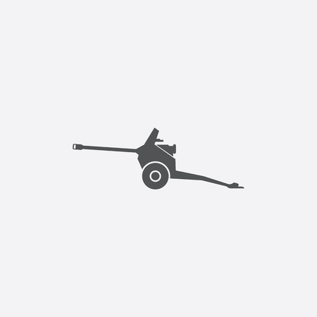 artillery: Artillery icon of vector illustration for web and mobile design