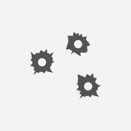 bullet hole: Bullet holes icon of vector illustration for web and mobile design
