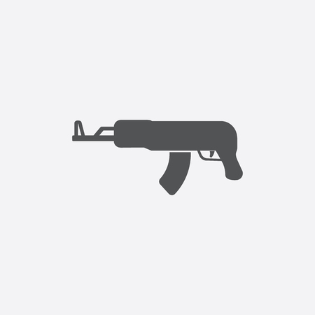 assault rifle: Assault rifle icon of vector illustration for web and mobile design Illustration