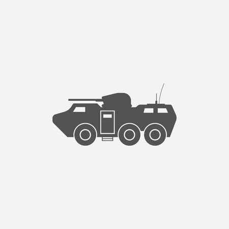 armoured: Armoured carrier icon of vector illustration for web and mobile design Illustration