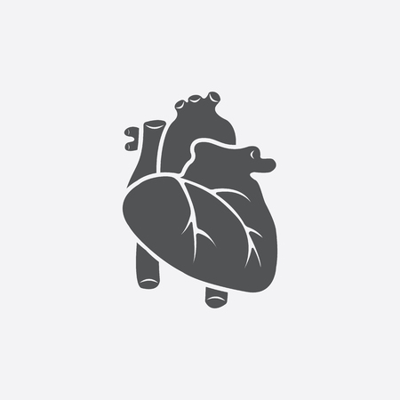 heart organ: Heart icon of vector illustration for web and mobile design Illustration