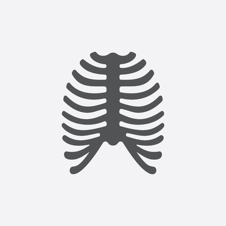 rib cage: Ribs icon of vector illustration for web and mobile design
