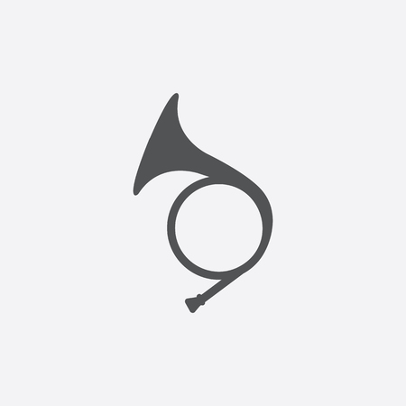 Hunting horn icon of vector illustration for web and mobile design