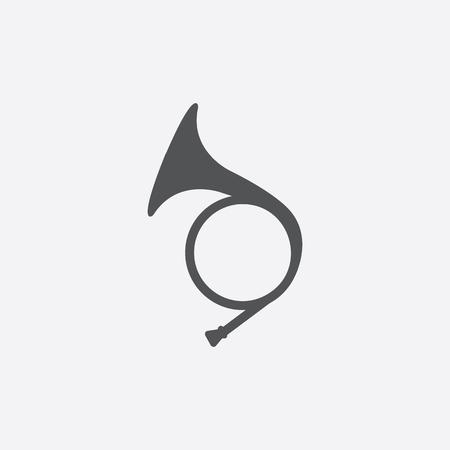 Jagdhorn Symbol Vektor-Illustration für das Web und mobile Design Vektorgrafik