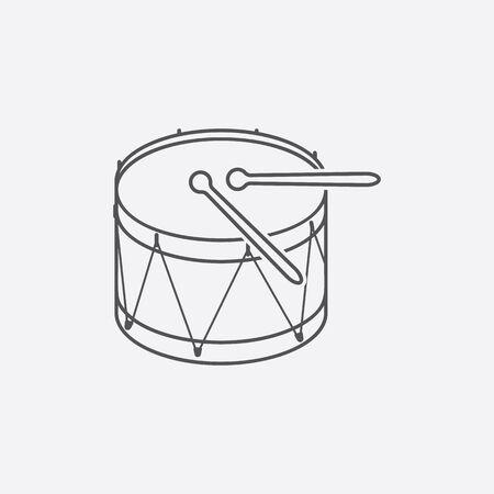 bateria musical: icono de tambor de ilustraci�n vectorial para la web y para dispositivos m�viles Vectores