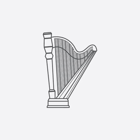 wite: Harp icon of vector illustration for web and mobile design Illustration