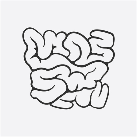 guts: Intestine icon of vector illustration for web and mobile design
