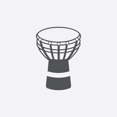 djembe: Djembe icon of vector illustration for web and mobile design