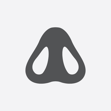 nostril: Nostril icon of vector illustration for web and mobile design Illustration