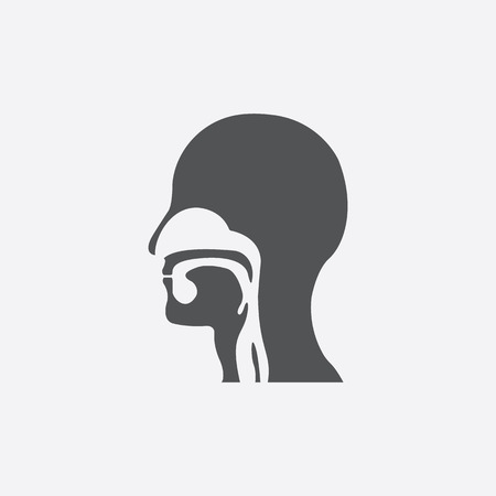 ear nose throat: Throat icon of vector illustration for web and mobile design Illustration