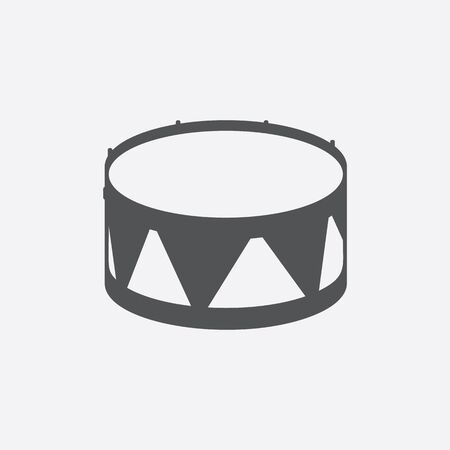tambor: Drum icon of vector illustration for web and mobile design Vectores