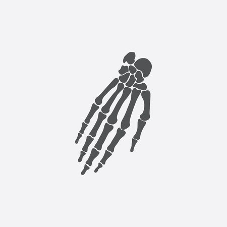 bone anatomy: Hand bones icon of vector illustration for web and mobile design
