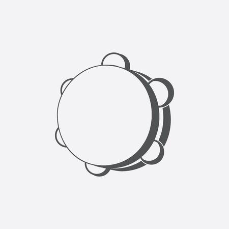 pandero: icono de la pandereta de la ilustraci�n vectorial para la web y para dispositivos m�viles