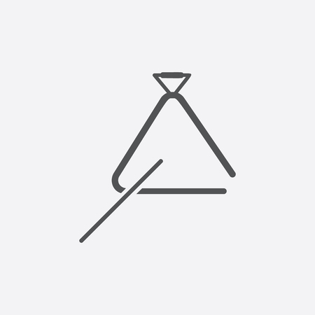 isolated objects: Triangle icon of vector illustration for web and mobile design