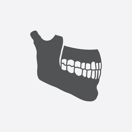 jaw: Jaw icon of vector illustration for web and mobile design