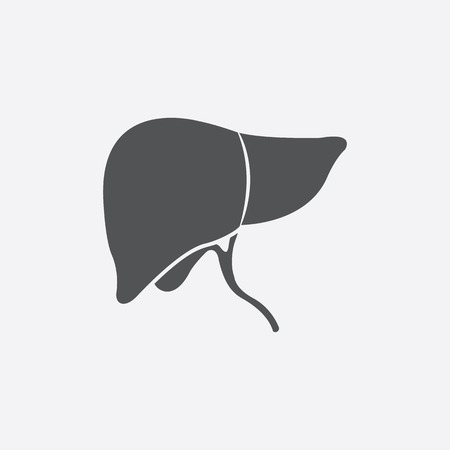 hepatology: Liver icon of vector illustration for web and mobile design