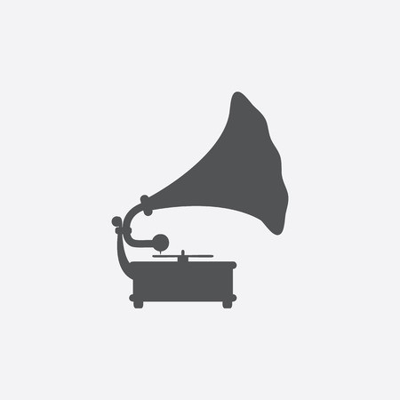 speaker box: Gramophone icon of vector illustration for web and mobile design Illustration