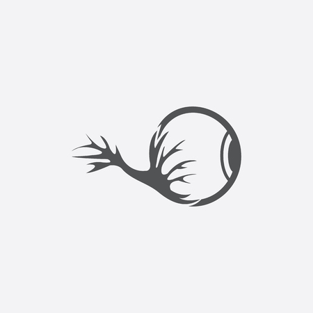 focus on shadow: Eyeglobe icon of vector illustration for web and mobile design Illustration