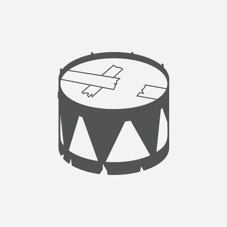 tambor: icono de tambor de ilustración vectorial para la web y para dispositivos móviles Vectores