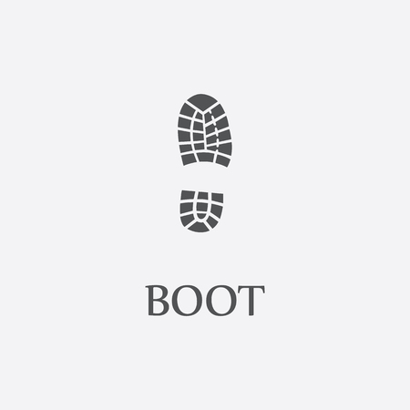 boot print: Boot print black simple icon for web and other design. Illustration