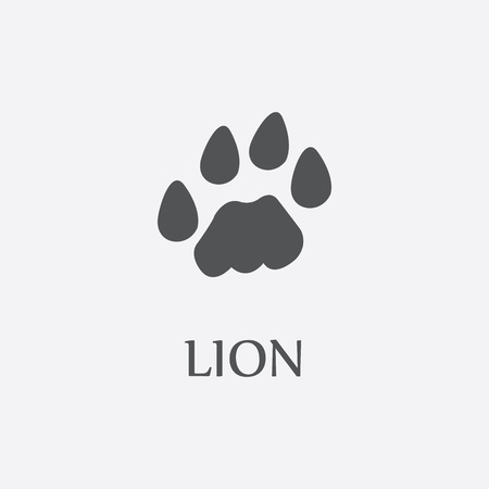 lions: Lion print black simple icon for web and other design.