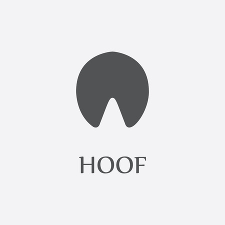 hoof: Hoof print black simple icon for web and other design.