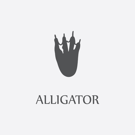 Alligator print black simple icon for web and other design.